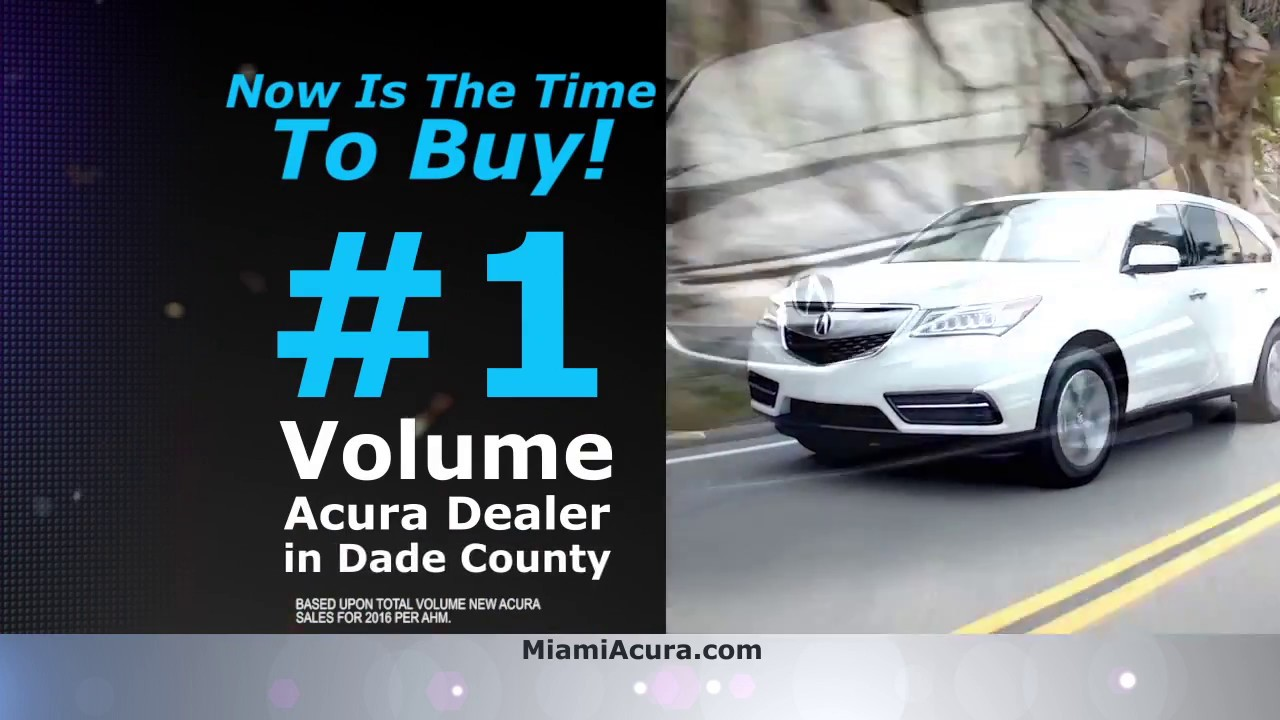 Miami Acura Volume Dealer In Dade Co YouTube - Acura dealer fort lauderdale