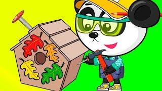 Учим Цвета - Рисуем Красками - Домик Для Птичек - Развивающий Мультик Для Детей
