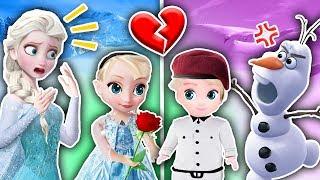 Los HIJOS de ELSA y OLAF se ENAMORAN ❤️ Frozen 2 ❄️ Sus PADRES se OPONEN! Juguetes Fantásticos