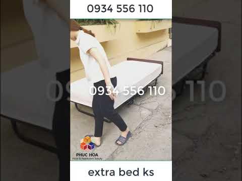 giường phụ extra bed gấp gọn cho khách sạn - YouTube