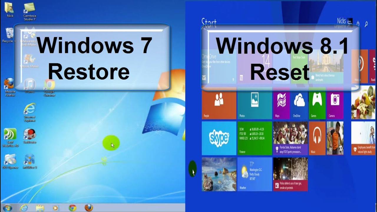 How to factory reset a pc windows 7