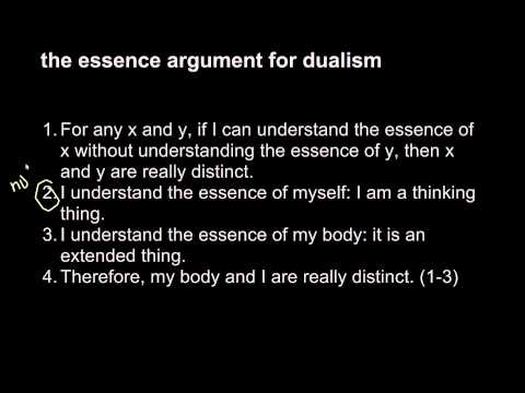 a discussion of the dualism divisibility argument Divisibility argument shows that the mind is a distinct substance from the body not everything thought of as physical is divisible we have just seen that physical properties are not always divisible.