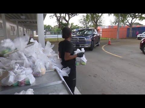 Miami-Dade distributes free food at Hialeah Miami Lakes Senior High School