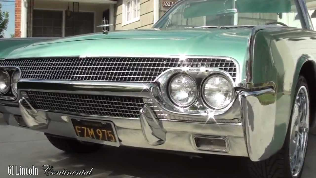 1961 lincoln continental convertible for sale video. Black Bedroom Furniture Sets. Home Design Ideas