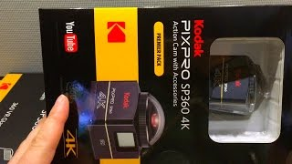 Kodak Pixpro SP360 4K Camera | Unboxing | Premier Pack