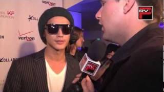 Pacific Rim Video correspondent interviews Jin Akanishi at the Koll...