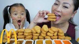 mcdonalds chicken nuggets challenge mukbang ne lets eat