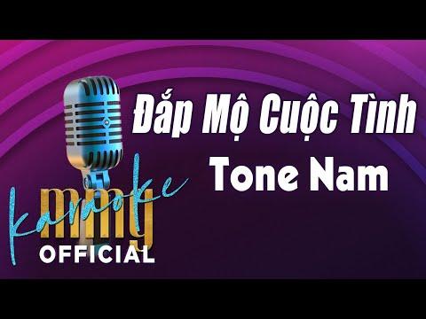 Đắp Mộ Cuộc Tình (Karaoke Tone Nam) | Hát với MMG Band