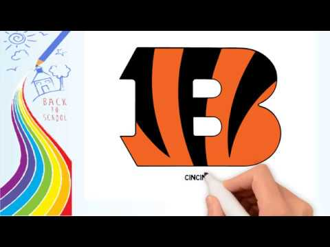 How to Draw -Drawing the Cincinnati Bengals logo - coloring Pages for kids | Drawing logo Channel