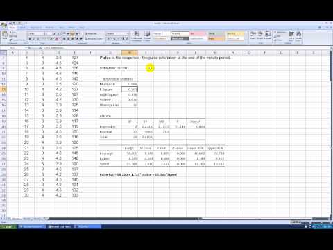 How to Run a Multiple Regression in Excel 2007