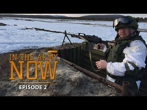 Dress in 45 seconds & army food. In the Army Now Series E2