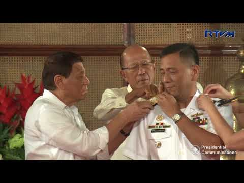 Donning of Ranks of Newly Promoted AFP Officers 10/3/2017