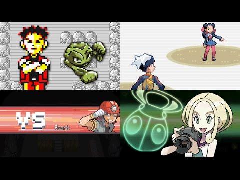 Evolution of First Gym Leader Battles in Pokémon games (1996 - 2017)