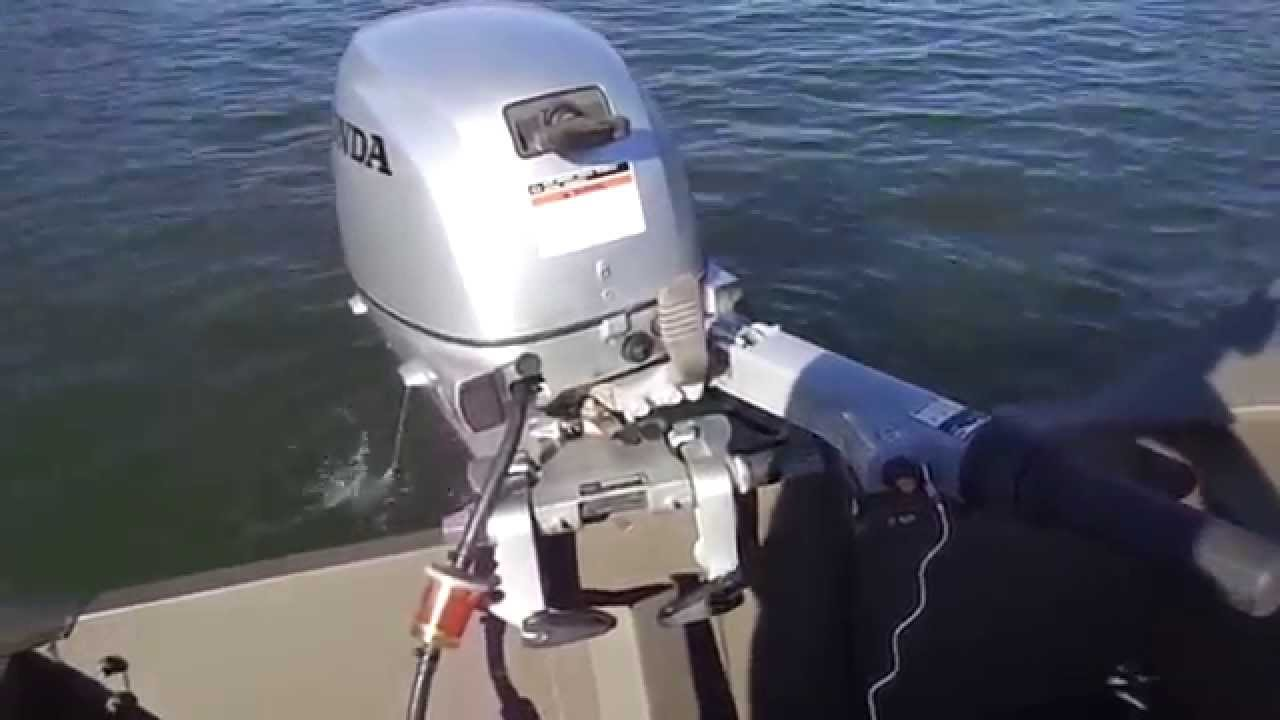 Honda 20 Hp on 1440 Triton all welded boat. - YouTube