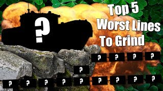 WoT || Top 5 || Worst Lines To Grind
