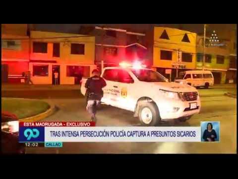 Callao: sicarios son detenidos tras intensa persecución policial