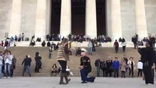 Marine proposal Lincoln memorial 11/15/15