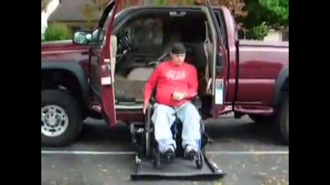 Plataforma para sillas de ruedas en camioneta youtube for Plataforma para silla de ruedas