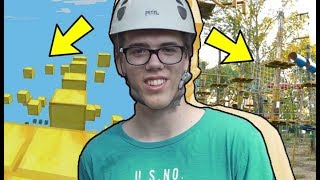 Minecraft Parkour Pálya a Valóságban! w/ ZsDav, Baluka, Csani