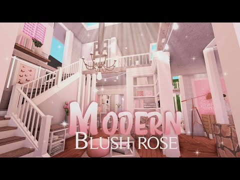 roblox-||-bloxburg:-modern-blush-rose-villa-||-house-build
