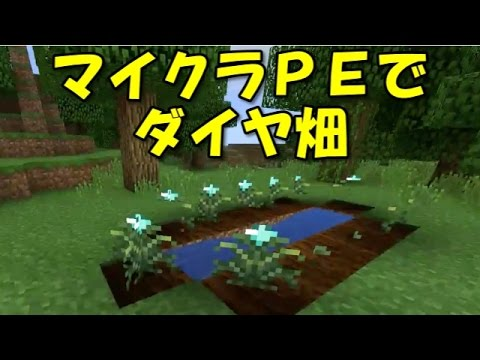【マインクラフトPE MOD】畑でダイヤを栽培!(v0.14)