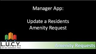 Manager - Update an Amenity Requests
