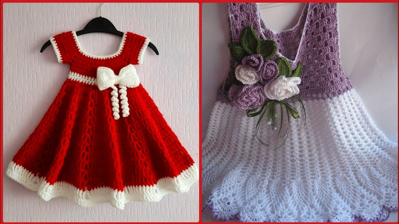 Most Beautiful And Stylish Hand Knitted Baby Frocks ...