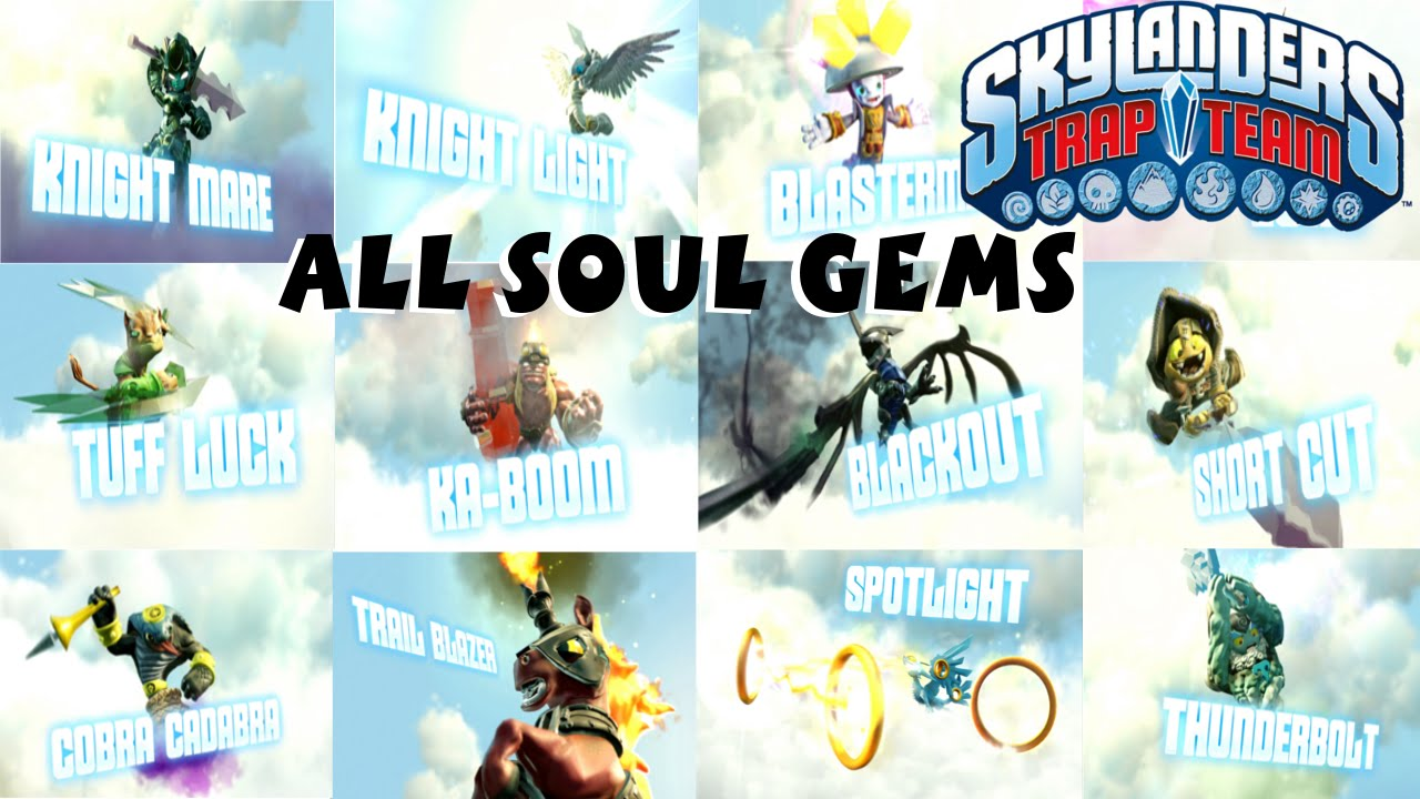 Skylanders Trap Team All Soul Gem Previews 1080P 60 fps ...
