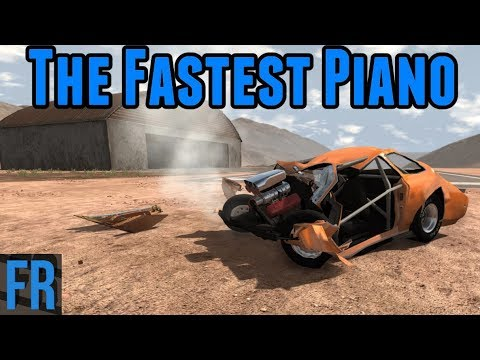 BeamNG Drive Challenge - The Fastest Piano