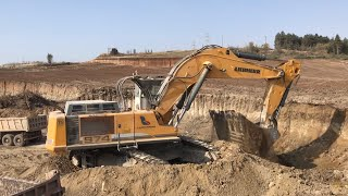 Liebherr 974 Excavator Loading Trucks - Labrianidis SA