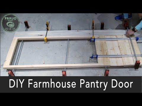 DIY Farmhouse Door With Glass For Pantry [Step By Step]