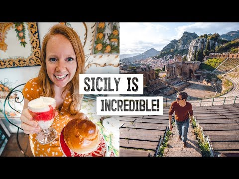 Trying Sicily's MOST DELICIOUS Dessert! + Exploring Taormina Coliseum Ruins / Mt. Etna 😍 (Italy)