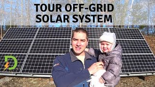 Overview of Entire Off-Grid Solar System for Whole House