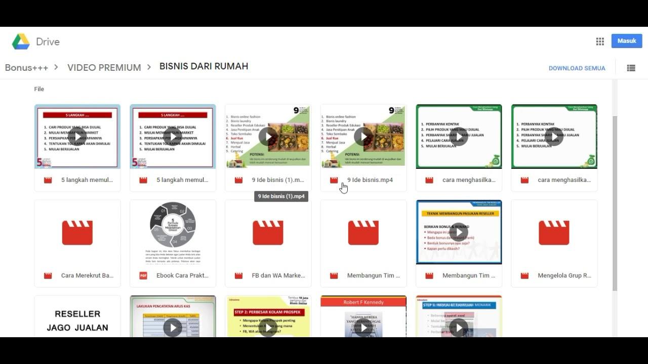Kumpulan Video, Audio, ebook Panduan Bisnis, Motivasi Dan ...