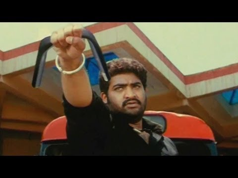 Narasimhudu Action Scenes - Narasimha Fight With Foot Ball Players -  Jr NTR