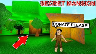 She Pretended To Be Homeless But Secretly Lives In a Huge Treehouse! (Roblox)