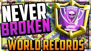WORLD RECORDS in Clash of Clans That Will NEVER Be Broken!