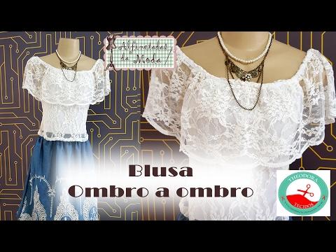 DIY- Blusa Ombro á Ombro + Molde - Curso de Corte e Costura - Passo a Passo