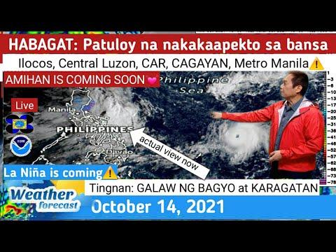 PAGHANDAAN: La Niña iiral na⚠ HABAGAT @ LUZON ⚠ WEATHER UPDATE TODAY October  14, 2021 PAGASA