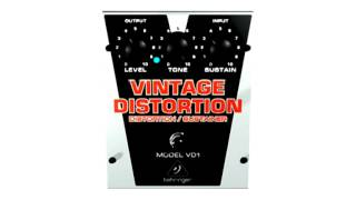 Behringer VD1 VINTAGE DISTORTION Authentic Vintage-Style Distortion / Sustainer Demonstration Review