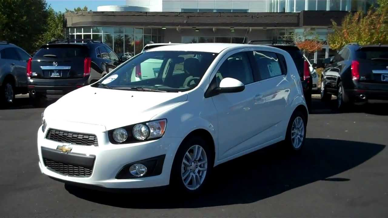 2013 Chevrolet Sonic Hatchback Lt White Burns Chevrolet