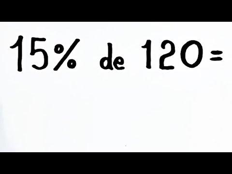 Download CÁLCULO DE PORCENTAGEM: 15% de 120