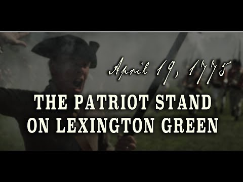 The Patriot Stand On Lexington Green - April 19th, 1775