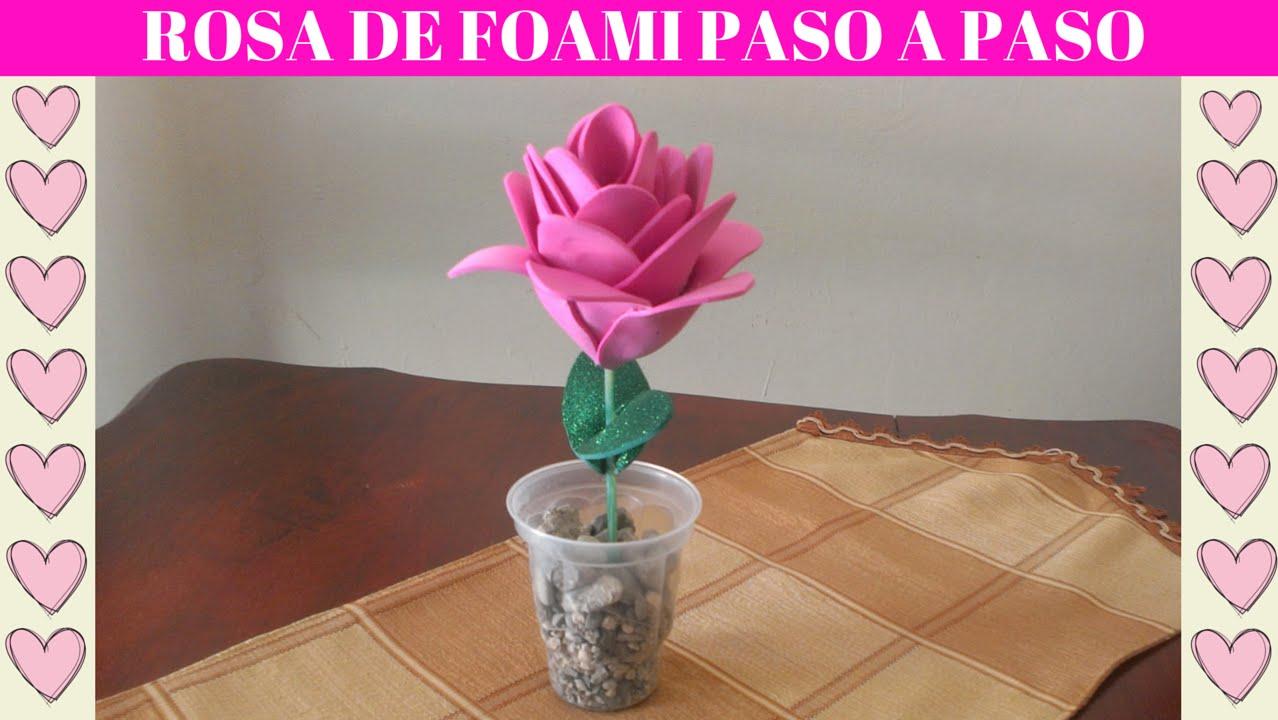 Rosa de foami paso a paso manualidades con goma eva for Manualidades con palets paso a paso