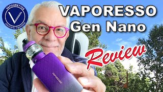VAPORESSO GEN NANO review, tut๐rial & How to. DL & MTL use. 2000mAh battery, variety of coils.