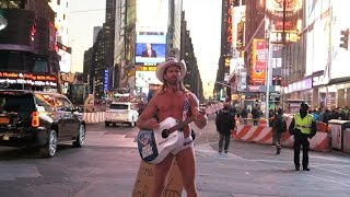 NAKED COWBOY/COWGIRL IN TIME SQUARE!!