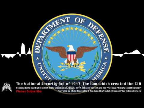 The National Security Act of 1947: The Law that Created the CIA