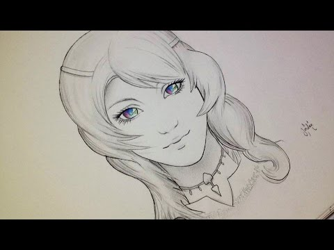 comment dessiner un visage manga r aliste fille tutoriel youtube. Black Bedroom Furniture Sets. Home Design Ideas