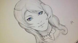 """Comment dessiner un visage Manga """"Réaliste"""" fille [Tutoriel]"""