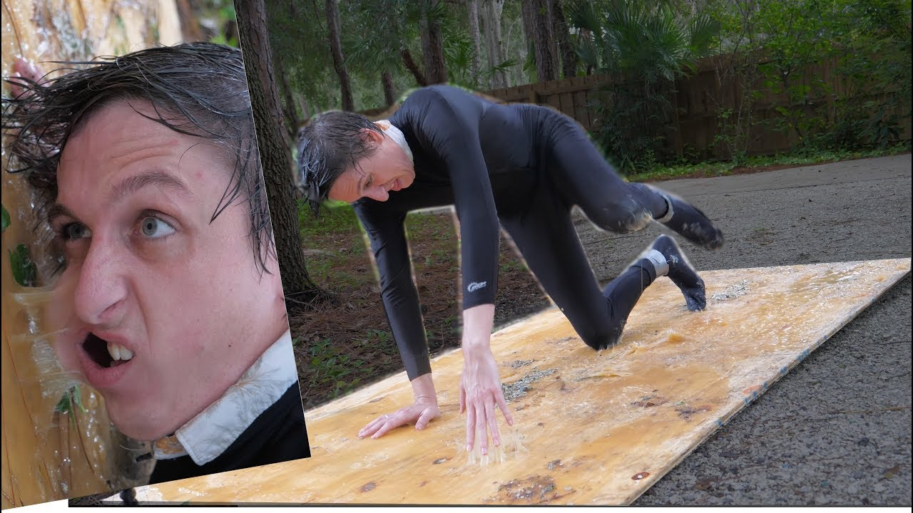 Can a Person escape a human-sized Glue Trap?